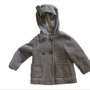 Carter's - Hooded pea coat with ears